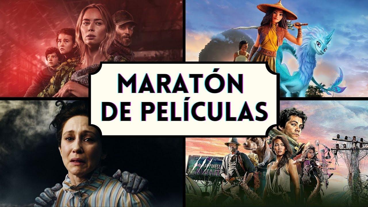 Maratón de Películas | Pt.1 | Un Lugar en Silencio Pt. 2, El Conjuro 3, Raya, Amor y Monstruos.
