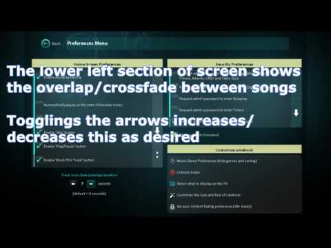 Setting content rating and crossfade on Jukebook
