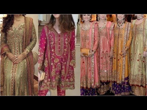 Top Designer's' Fancy Dresses/ Very Trending Fashion Of Zardozi Work With Stylish Designing