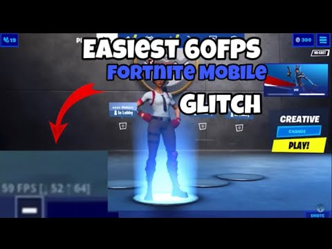 EASIEST WAY TO GET 60FPS ON FORTNITE MOBILE