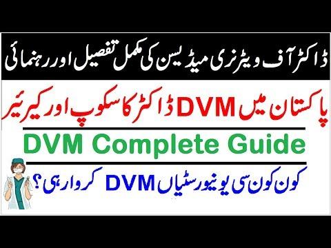 Doctor Of  Vaternary Medicine (DVM),Scope//Career//Universities In Pakistan