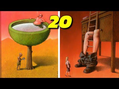20 ภาพการ์ตูนเสียดสีสังคมบ้าๆ บวมๆ ที่เราอาศัยอยู่ปัจจุบันนี้