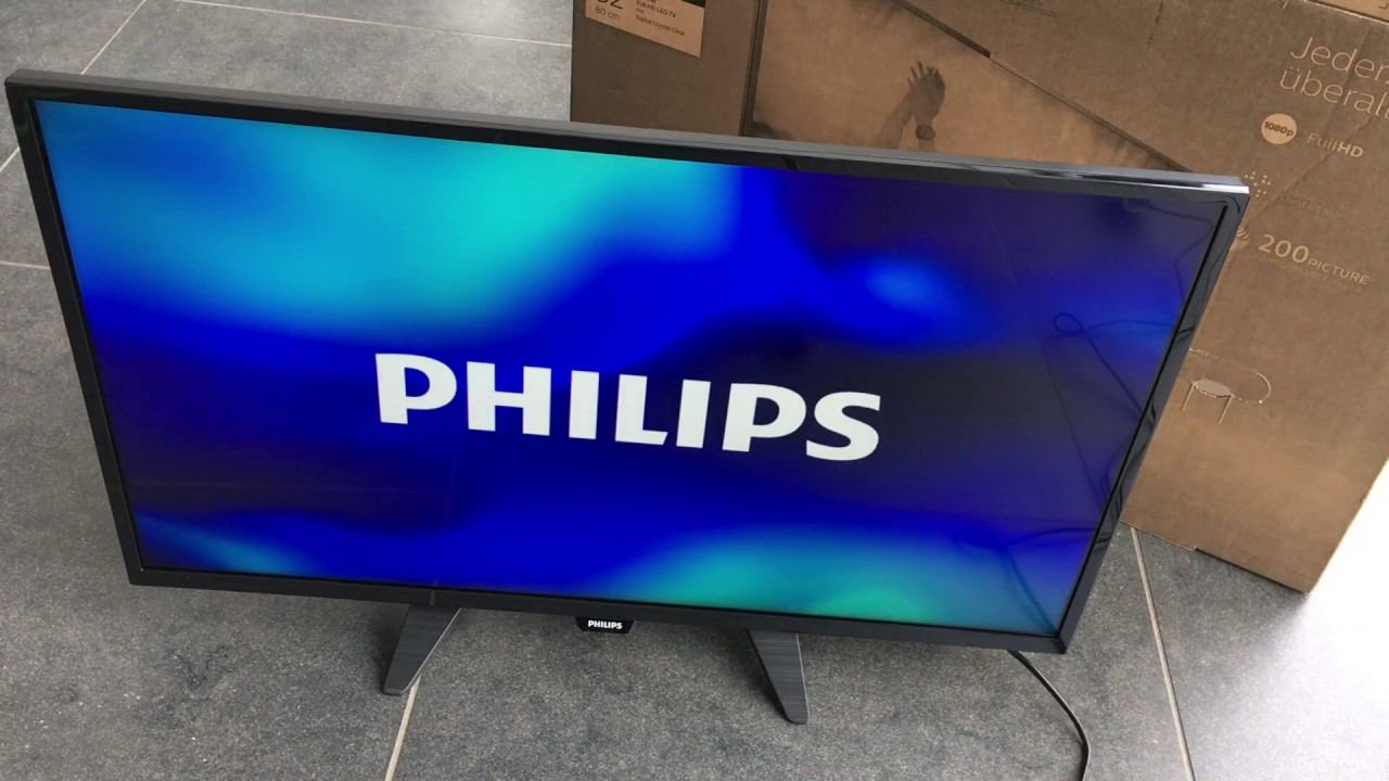 Philips 32PFK4101 unboxing - YouTube