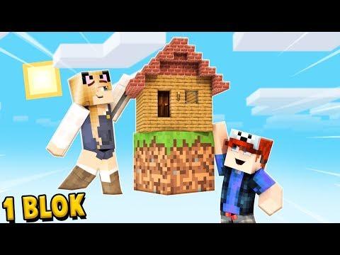 ZBUDOWALIŚMY DOM TYLKO NA JEDNYM BLOKU W Minecraft! | Vito I Bella