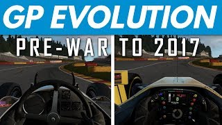 Forza 7│Grand Prix Evolution: Famous Corner Comparison (Pre-War to 2017)