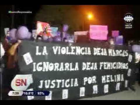 Justicia por Melina, marcha en La Merced