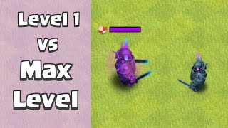 Level 1 Troops VS Max Level Troops | Clash of Clans