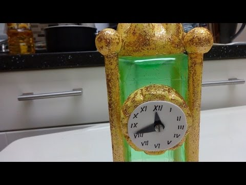 Plastic bottle crafts how to make a table clock model diy for Craft model with waste material