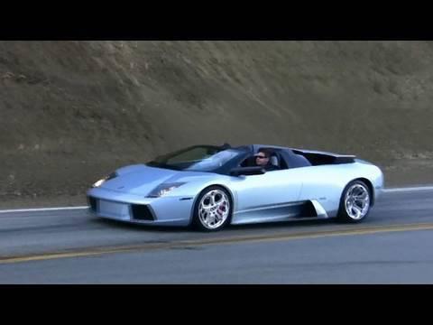 Lamborghini Murcielago on Mulholland Hwy