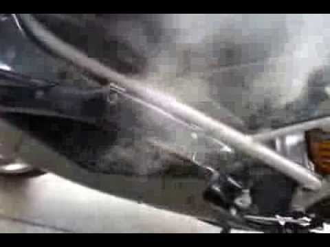 ballistic li-ion battery buring in a ducati 1198 - youtube