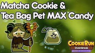 Cookie Run Ovenbreak CROB New Matcha Cookie & Tea Bag