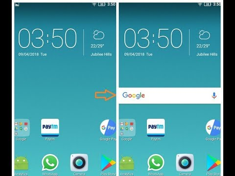 How to get Google Search bar back on Mobile Home Screen || OnlineTipsZone