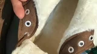 새로운 가을 겨울 플러스 두꺼운 벨벳 플랫 스노우 부츠…