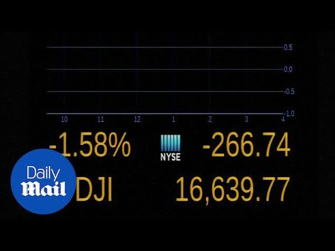 Dow Jones plummets as Wall Street reacts to Chinese markets - Daily Mail