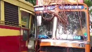 ആലപ്പുഴയില് കെഎസ്ആര്ടിസി ബസും  ലോറിയും കൂട്ടിയിടിച്ചു | Alappuzha KSRTC Bus Accident