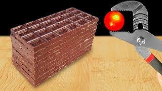 EXPERIMENT: Glowing 1000 Degree Metal Ball VS Сhocolate