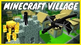 Minecraft Village Remastered - Easter Egg Tutorial / Boss Fight ( WAW Custom Zombies )