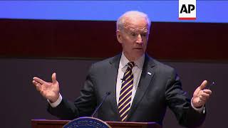 Joe Biden rallies Democrats for 2018 midterm elections