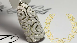 Nail Tutorial: Foil and Sugar Effect  Бархатный песок и литьё. Дизайн ногтей  Effetto zucchero