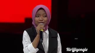 "MERINDING.....Syarla ""The Voice Kids Indonesia"" Sesion 2 nyanyi lagu religi ..😢😢👍👍👍"