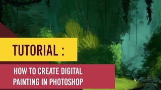 Digital art painting photoshop digital painting tutorial