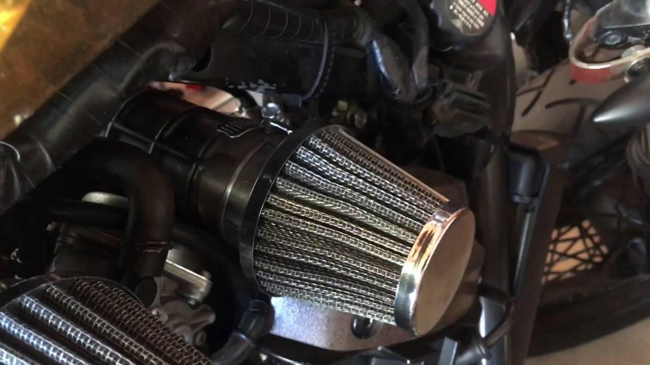 air filtration set up honda shadow 750 spirit