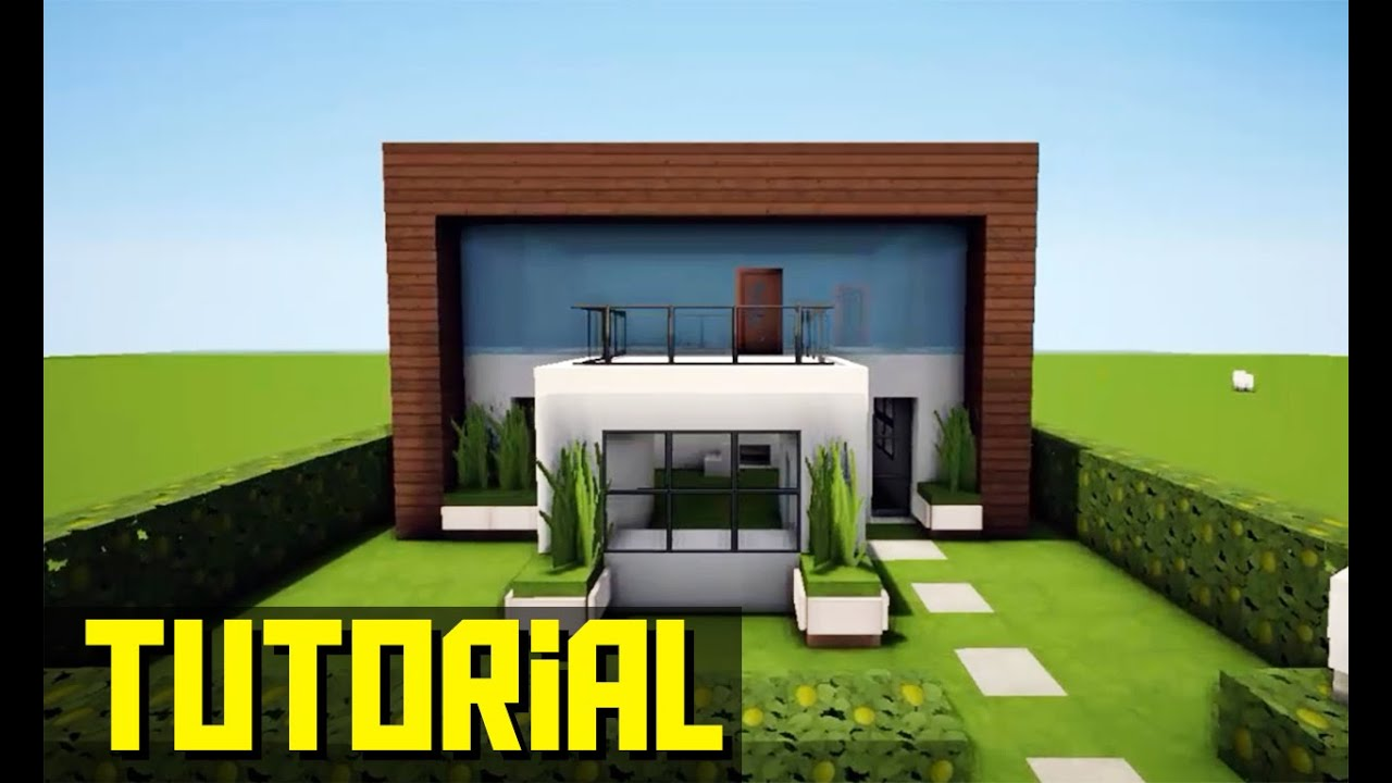 Minecraft tutorial pequena casa moderna 203 youtube for Casas modernas no minecraft
