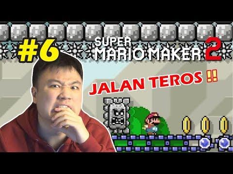 GA BISA DI BAWA SANTAI STAGE INI !! - Super Mario Maker 2 [Indonesia] #6