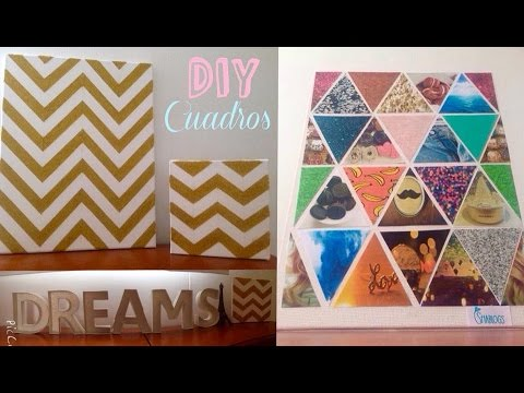 Como hacer cuadros para decorar tu habitaci n i diy youtube for Como decorar una habitacion