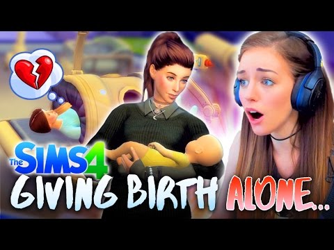 🍼THE BABY IS HERE BUT I'M ON MY OWN!?💔 (The Sims 4 #16! 🏡)