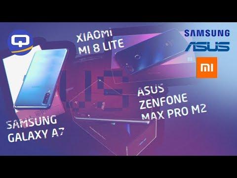 Сравнение Samsung Galaxy A7 (2018), Asus Zenfone Max Pro (M2)  и Xiaomi Mi8 Lite./ QUKE.RU /
