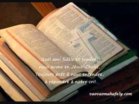 FFPM : 617 - Aza manadino ahy - Quel ami fidèle et tendre - What a friend we have in Jesus
