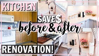 DIY FAKE MARBLE COUNTERTOP! KITCHEN RENOVATION IDEAS | Alexandra Beuter