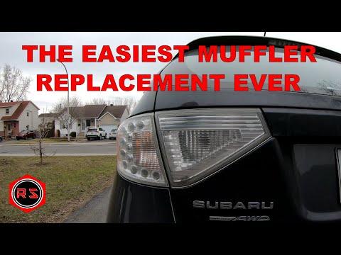 DIY Impreza muffler replacement  EASY JOB!!!