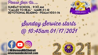 "Sunday Service - ""There Shall be Glory After This"" - 1/17/2021"