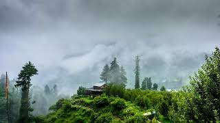 #thesilentwatcher | Heavy Rain And Thunder Storm In The Foggy Hill Station | Sounds For Sleep |