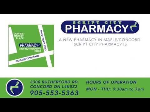 Script City Pharmacy: For All Your Pharmacy Needs! - 35 Second Commercial Ad