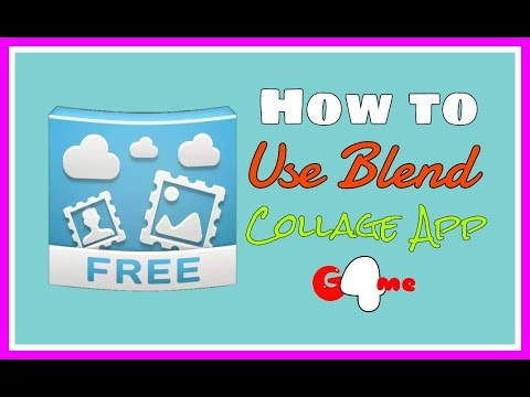 How to Use Blend Collage App for Your Photo - YouTube