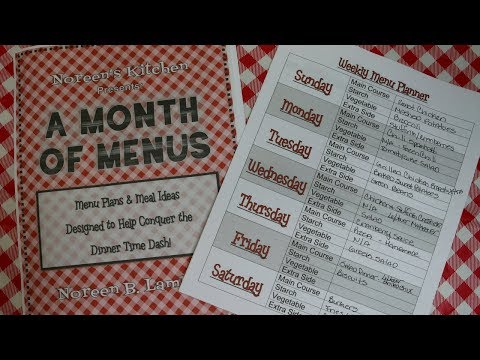 How I Meal Plan ~ A Month of Menus Cookbook Launch ~ Noreen's Kitchen