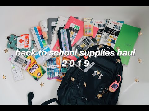 BACK TO SCHOOL SUPPLIES HAUL 2019 (Junior year)