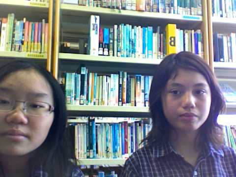 Kat & Ana in the school library LOL