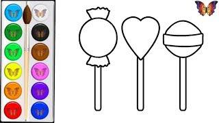 Download Как нарисовать СЛАДОСТИ / мультик раскраска СЛАДОСТИ для детей / Раскраски малышам Mp3 and Videos