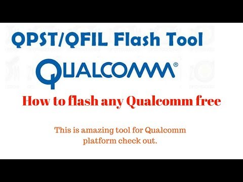 How to use Qfil/Qpst tool to flash any Qualcomm cpu based phone.