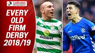 Celtic v Rangers | EVERY 2018/19 Old Firm Derby! | Ladbrokes Premiership