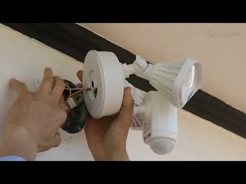 Swann Floodlight Security Camera Physical Installation, Mounting