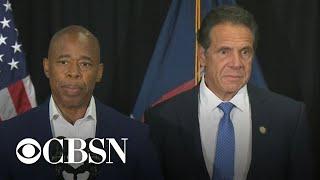 New York Governor Cuomo and Eric Adams discuss NYC gun violence