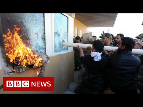 Baghdad protesters target US embassy - BBC News