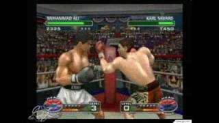 Knockout Kings 2003 GameCube Gameplay - Blazing moves