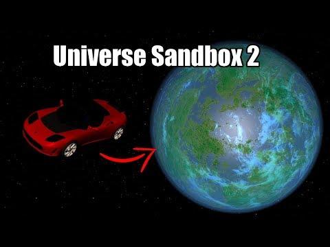 Terraforming a Tesla Roadster in Universe Sandbox 2