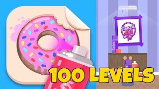 Stencil Art - Spray Masters 100 LEVELS GAMEPLAY | Stencil Art Complete Gameplay